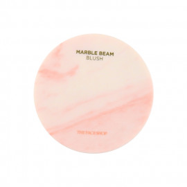 image of 韓國 The Face Shop 大理石紋腮紅/打亮 7g #.2橘色  Korea THE FACE SHOP - Marble Beam Blush & Highlighter  7g #.2 Love Coral