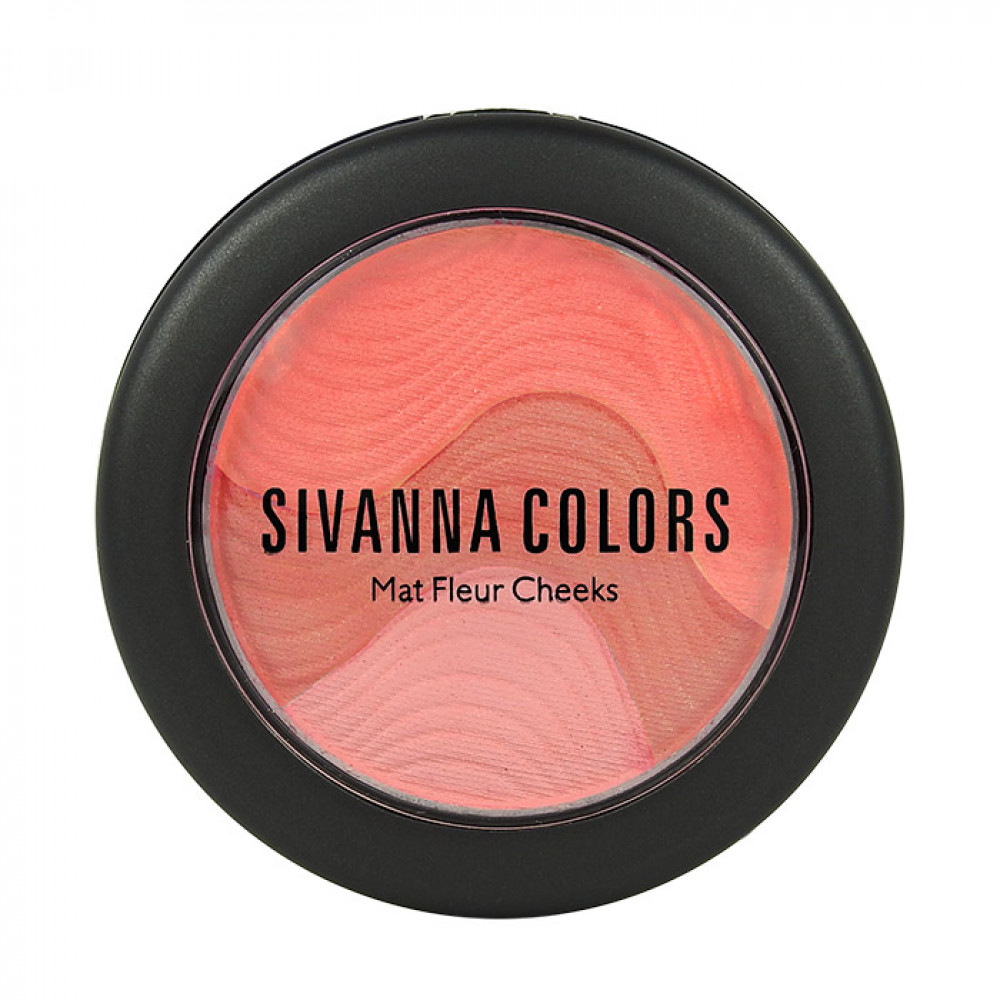 Sivanna HF-8115 魔幻山丘摩莎三色頰彩 6g #.03 秋堤橘現 Sivanna HF-8115 Sivanna Colors Mat Fleur Cheeks  6g #.03