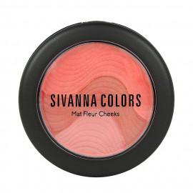 image of Sivanna HF-8115 魔幻山丘摩莎三色頰彩 6g #.03 秋堤橘現 Sivanna HF-8115 Sivanna Colors Mat Fleur Cheeks  6g #.03