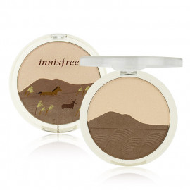 image of 韓國 innisfree 秋色限定修容腮紅兩用粉餅 9g #.01 大地色系  Korea INNISFREE Face shimmering Duo  9g #.01