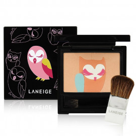 image of 韓國 蘭芝 LANEIGE╳Lucky Chouette 魔幻貓頭鷹眼頰彩盤 8g 晨光初戀 內附刷具  Korea Laneige X Lucky Chouette Multi-Color 8g