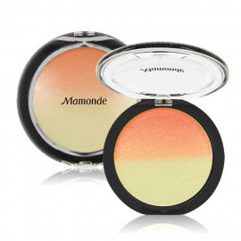 image of 韓國 Mamonde 夢妝 提亮漸變腮紅餅 9g #.02 Orange Flower 橘色  Korea Mamonde Bloom Harmony Blusher & Highlighter 9g #02 Orange Flower