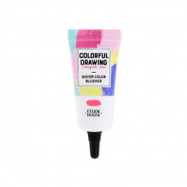 image of 韓國 ETUDE HOUSE 彩色素描春季限定水感腮紅OR201 10g  Korea ETUDE HOUSE COLORFUL DRAWING - Water Color Blusher #OR201 10g