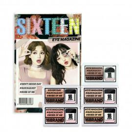 image of 韓國 16brand 迷你雜誌炫彩雙色眼影盤 (多款可選)  Korea 16brand Sixteen Eye Magazine