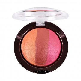 image of 美國 Nicka.K 烘焙珠光3色眼影 04玫瑰色7g    United States Nicka K Baked Terracotta Eyeshadow - 04 Sparkle Peach