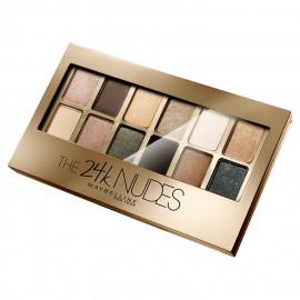 image of MAYBELLINE 媚比琳 時尚伸展台訂製12色眼彩盤 9g #.奢華24K金  Maybelline Makeup The 24K Nudes Eyeshadow Palette 9g