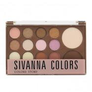 image of Sivanna SH-1157 經典礦物色系美彩熊組合盤 20g #.01 朝迎旭日 Sivanna SH-1157 Sivanna Colors Classic Mineral Color Eyeshadow Plate 20g #.01