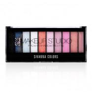 image of Sivanna HF-537 嫵媚動人靚影10色眼影盤 20g #.04 藍月靚影   Sivanna HF-537 Sivanna Makeup Studio Pro Eyeshadow Palette 20 g  #.04