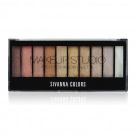 image of Sivanna HF-537 嫵媚動人靚影10色眼影盤 20g #.01 神眸靚影 Sivanna HF-537 Sivanna Makeup Studio Pro Eyeshadow Palette 20 g #.01