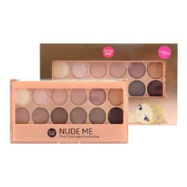 image of 泰國 Cathy doll 凱蒂娃娃 真我晶燦12色眼影盤 12g #03浪漫   Thailand Cathy Doll Nude Me Eyeshadow Palette 12g #03Pink Champagne