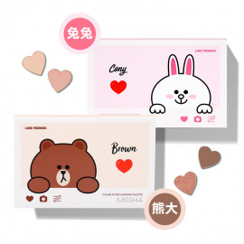 image of 韓國 MISSHAxLine Friends 聯名款 眼影腮紅愛心彩盤 15g 兔兔/熊大   Korea MISSHAxLine Friends Color Filter Shadow Palette 15g