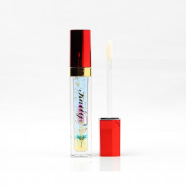 image of Kaili Jumei 花瓣變色唇蜜 金箔款 6g #.3清新藍  Kaili Jumei  Lipstick Double Deck Matte 6g #.3 Flame Red