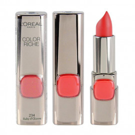 image of LOREAL 巴黎萊雅 純色訂製唇膏 (霧面) 3.7g #.234狂野艷紅  L'Oreal Paris Color Riche Moist Matte Lipstick 4.2g #.234 Ruby D'oeuvre