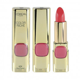 image of LOREAL 巴黎萊雅 純色訂製唇膏 3.7g #.624紅武士玫瑰  France L'Oreal Lipstick Color Riche 3.7g #.624 Rose Fume