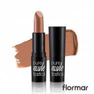 image of 法國 Flormar 絕對赤裸 裸色唇膏 4g #.005 柔霧摩卡  France Flormar Pure Nude Lipstick  4g #.005 Light Mocha