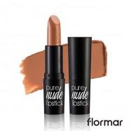 image of 法國 Flormar 絕對赤裸 裸色唇膏 4g #.006 牛奶巧克力  France Flormar Pure Nude Lipstick 4g #.006 Milk Chocolate