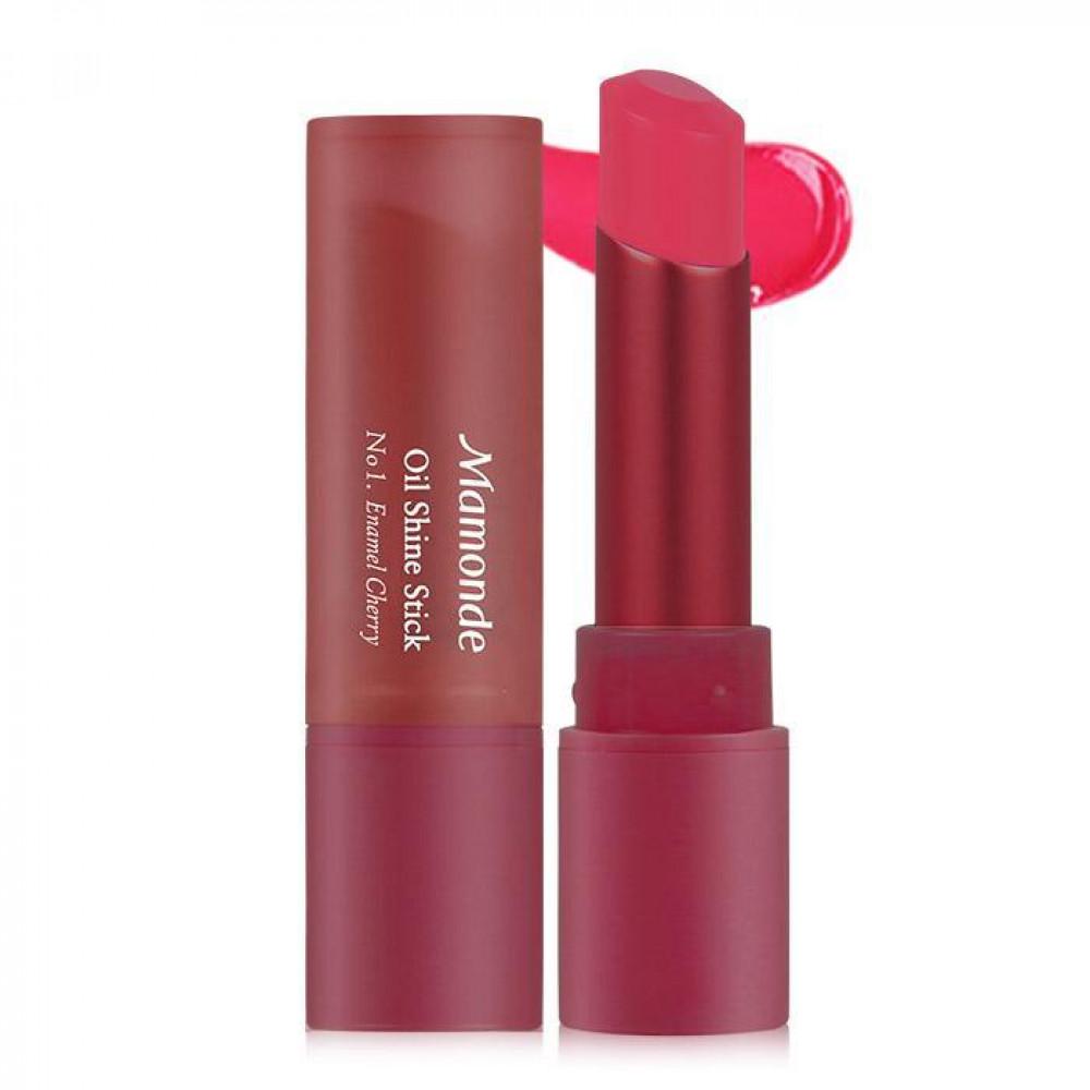 韓國 Mamonde 精油光澤唇膏 乙支入 #.01 Enamel Cherry  Korea Mamonde Oil Shine Stick #.01 Enamel Cherry