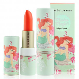 image of 泰國 Cute Press 小美人魚唇膏 3.7g #.01 Silly Sebastian   Thailand Cute Press The Little Mermaid Marine Collagen Lipstick  3.7g #.01 Silly Sebastian