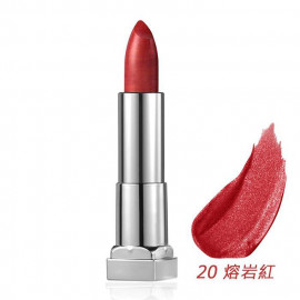 image of MAYBELLINE 媚比琳 極綻色金屬霧光唇膏20熔岩紅 3.9g  MAYBELLINE New York Color Sensational Matte Metallic Lipstick 3.9g #20 Hot Lava
