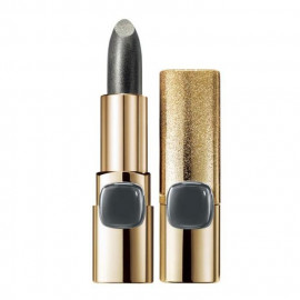 image of LOREAL 巴黎萊雅 金屬星燦唇膏(限量款)太空銀 3.7g  L'Oreal Paris Color Riche Metallic Addiction Lipstick 3.7g #Silver Spice