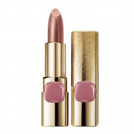 image of LOREAL 巴黎萊雅 金屬星燦唇膏(限量款)琉璃粉 3.7g   L'Oreal Paris Color Riche Metallic Addiction Lipstick 3.7g # Rose Champagne