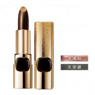 image of LOREAL 巴黎萊雅 金屬星燦唇膏(限量款)綠曜黑 3.7g  L'Oreal Paris Color Riche Metallic Addiction Lipstick 3.7g # Black Star