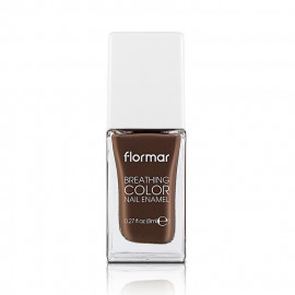 image of 法國 Flormar 漫步義大利 輕羽指甲油05Double espresso 8ml  France Flormar Breathing Color Nail Enamel 8ml #05 Double espresso