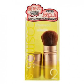 image of COSMOS 果凍系列 伸縮蜜粉修容刷 可當腮紅刷/蜜粉刷   COSMOS Retractable Kabuki Powder Blush Bronzer Soft Makeup Brush