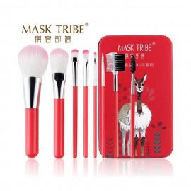 image of MASK TRIBE 膜客部落炫粧新潮八枝刷具組 #紅駱馬  MASK TRIBE  Makeup Brushes Set #Red