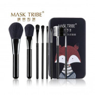 image of MASK TRIBE 膜客部落炫粧新潮八枝刷具組 #黑浣熊  MASK TRIBE Makeup Brushes Set #Black