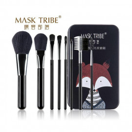image of MASK TRIBE 膜客部落炫粧新潮八枝刷具組 #黑浣熊  MASK TRIBE Makeup Brushes Set #Black