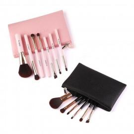 image of ZOREYA 美少女荔枝紋袋七枝刷具組 粉色/黑色    ZOREYA Make Up Brushes 7pcs 1 set Pink/Black Colour
