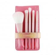 image of 韓國 Coringco 粉紅閃耀刷具五件組(附收納袋)   Korea Coringco Pink Colour Makeup Brush Tool 1 Set
