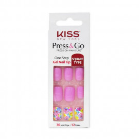 image of KISS-Press&Go 指甲貼片 30片/盒 #我的野蠻公主  KISS-Press&Go One-Step Gel Nail Tip 30pcs/Box #PNG17K
