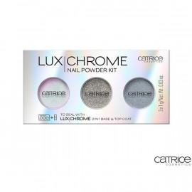 image of 德國 Catrice 魔幻稜光指甲亮粉   Germany Catrice Cosmetics 2 IN 1 Base & Top Coat Nail Powder Kit