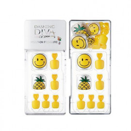 image of 韓國 MISSHA 魔法歌劇腳指甲貼 鳳梨黃1set    Korea MISSHA Nail Sticker 1 Set # Pineapple Yellow Color