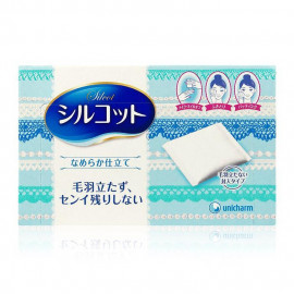 image of 日本 絲花 化妝棉 80枚入  Japan Cosme Unicharm cotton super absorbent water wet face cleansing cotton 80 Sheet