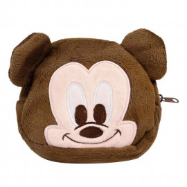 image of 迪士尼 Disney 加厚拉鍊小收納包/化妝包 乙入 #.圓形大頭 01 米奇  Disney Makeup Bags #.01 Mickey Mouse