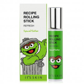 image of 韓國 Its skin╳Sesame Street 芝麻街聯名款 精油滾珠香水 10mL #.REFRESH   Korea  Its skin╳Sesame Street Recipe Rolling Stick 10mL #.REFRESH