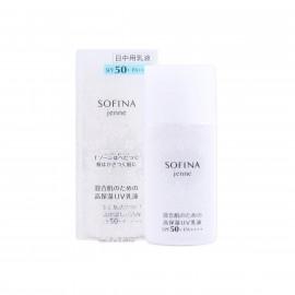 image of 日本 SOFINA 蘇菲娜 Jenne 透美顏飽水控油雙效日間防護乳 SPF50+ PA+++ 30mL  Japan Jenne Whitening UV Cut Emulsion SPF50+ PA+++ 30mL