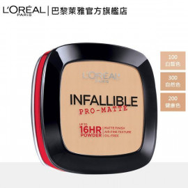 image of LOREAL 巴黎萊雅 油光OUT恆霧蜜粉餅 300自然色9g   L'Oreal Paris Infallible Pro-Matte Powder 9g #300 Nude Beige