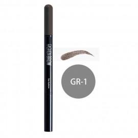 image of MAYBELLINE 媚比琳 宛若真眉雙效眉粉筆 眉筆0.11g+眉粉0.5g #.GR-1  MAYBELLINE NEW YORK Fashionbrow Duo Eyebrow #.GR-1