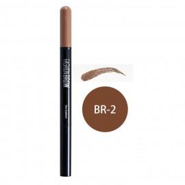 image of MAYBELLINE 媚比琳 宛若真眉雙效眉粉筆 眉筆0.11g+眉粉0.5g #.BR-2   MAYBELLINE NEW YORK Fashionbrow Duo Eyebrow #.BR-2