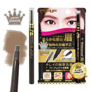 image of NAF 3D持久旋轉眉筆 (一字型筆蕊) 0.5g #.經典棕黑    N.A.F Waterproof 3D Whirling Eyebrow Pen 0.5g #.Brownish Black