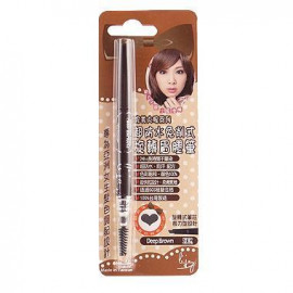image of lijay 琍睫 完美大眼 超防水免削式旋轉眉膠筆 0.4g Deep Brown 深棕  Lijay Waterproof Eyebrow Pencil   0.4g # Deep Brown