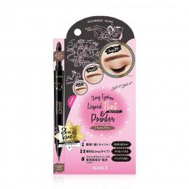image of 日本 AVANCE 超持色雙效眉液˙眉粉筆 自然棕  Japan AVANCE 2Way Eyebrow Liquid Tint & Powder #Natural Brown