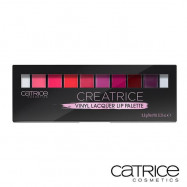 image of 德國 Catrice 漆光10色唇彩盤   Germany Catrice Cosmetics Creatrice Vinyl Lacquer Lip Palette