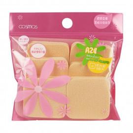 image of 台灣 COSMOS A24 兩用粉餅海綿 6個入   Taiwan COSMOS A24 Powder Puff Sponge (6 Pcs)