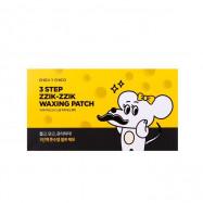 image of 韓國 CHICA Y CHICO 鬍子脫毛貼片三步驟(五片入)   Korea CHICA Y CHICO 3 Step ZZIK-ZZIK Waxing Patch (5 Pcs)