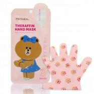 image of MEDIHEAL xLine Friends 水潤嫩白修護手膜 7ml*5對入    MEDIHEAL xLine Friends Theraffin Hand Mask 7ml*5 Pair
